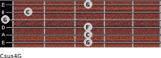 Csus4\G for guitar on frets 3, 3, 3, 0, 1, 3