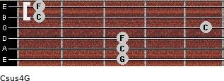 Csus4\G for guitar on frets 3, 3, 3, 5, 1, 1