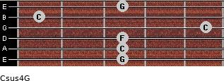 Csus4\G for guitar on frets 3, 3, 3, 5, 1, 3