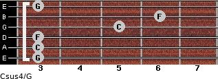 Csus4\G for guitar on frets 3, 3, 3, 5, 6, 3