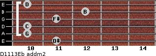 D11/13/Eb add(m2) guitar chord
