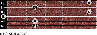 D11/13/Gb add(7) guitar chord