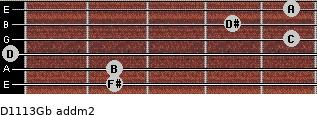 D11/13/Gb add(m2) guitar chord