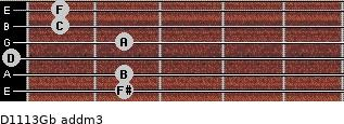 D11/13/Gb add(m3) guitar chord