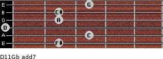 D11/Gb add(7) guitar chord