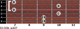 D13/Db add(7) guitar chord