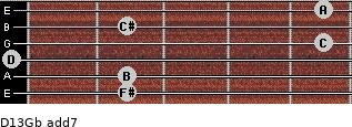 D13/Gb add(7) guitar chord