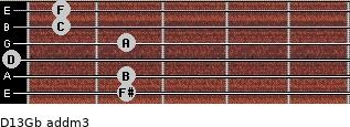 D13/Gb add(m3) guitar chord