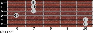 D6/11b5 for guitar on frets 10, 10, 6, 7, 7, 7