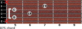 D7(-5) for guitar on frets x, 5, 6, 5, 7, x