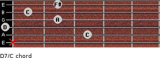 D7/C for guitar on frets x, 3, 0, 2, 1, 2