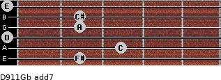 D9/11/Gb add(7) guitar chord