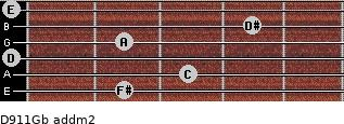 D9/11/Gb add(m2) guitar chord