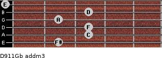 D9/11/Gb add(m3) guitar chord