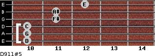 D9/11#5 for guitar on frets 10, 10, 10, 11, 11, 12