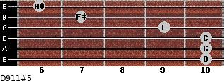 D9/11#5 for guitar on frets 10, 10, 10, 9, 7, 6