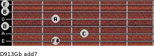 D9/13/Gb add(7) guitar chord