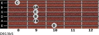 D9/13b5 for guitar on frets 10, 9, 9, 9, 9, 8
