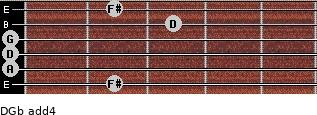 D/Gb add(4) guitar chord