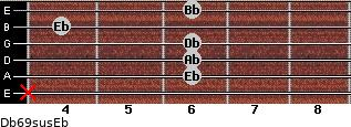 Db6/9sus/Eb for guitar on frets x, 6, 6, 6, 4, 6