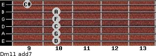 Dm11 add(7) guitar chord