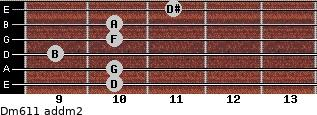 Dm6/11 add(m2) guitar chord