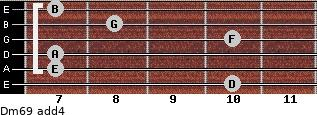 Dm6/9 add(4) guitar chord