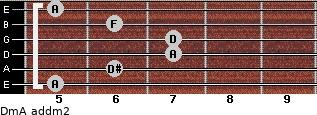 Dm/A add(m2) guitar chord