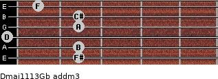 Dmaj11/13/Gb add(m3) guitar chord