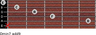 Dmin7(add9) for guitar on frets x, 5, 3, 2, 1, 0
