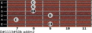 D#11/13#5/Db add(m2) guitar chord
