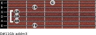 D#11/Gb add(m3) guitar chord