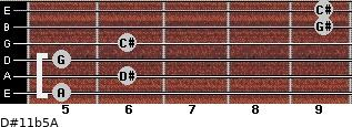 D#11b5/A for guitar on frets 5, 6, 5, 6, 9, 9