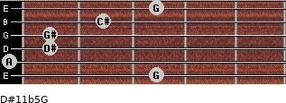 D#11b5/G for guitar on frets 3, 0, 1, 1, 2, 3