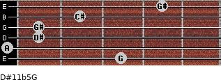 D#11b5/G for guitar on frets 3, 0, 1, 1, 2, 4