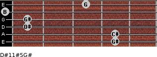 D#11#5/G# for guitar on frets 4, 4, 1, 1, 0, 3