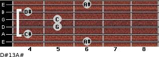 D#13/A# for guitar on frets 6, 4, 5, 5, 4, 6