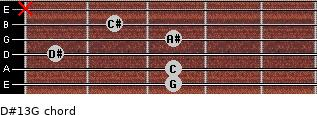 D#13/G for guitar on frets 3, 3, 1, 3, 2, x