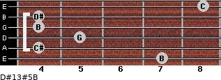 D#13#5/B for guitar on frets 7, 4, 5, 4, 4, 8