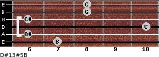 D#13#5/B for guitar on frets 7, 6, 10, 6, 8, 8