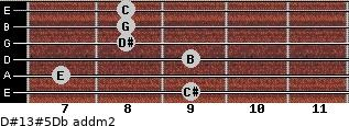 D#13#5/Db add(m2) guitar chord