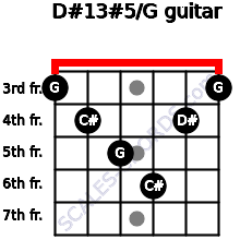 D#13#5/G for guitar on frets 3, 4, 5, 6, 4, 3