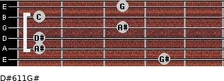 D#6/11/G# for guitar on frets 4, 1, 1, 3, 1, 3
