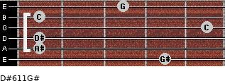 D#6/11/G# for guitar on frets 4, 1, 1, 5, 1, 3