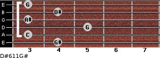 D#6/11/G# for guitar on frets 4, 3, 5, 3, 4, 3