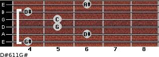 D#6/11/G# for guitar on frets 4, 6, 5, 5, 4, 6