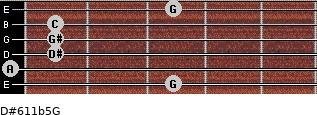 D#6/11b5/G for guitar on frets 3, 0, 1, 1, 1, 3