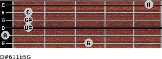 D#6/11b5/G for guitar on frets 3, 0, 1, 1, 1, 5