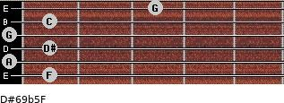 D#6/9b5/F for guitar on frets 1, 0, 1, 0, 1, 3