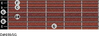 D#6/9b5/G for guitar on frets 3, 0, 1, 0, 1, 1